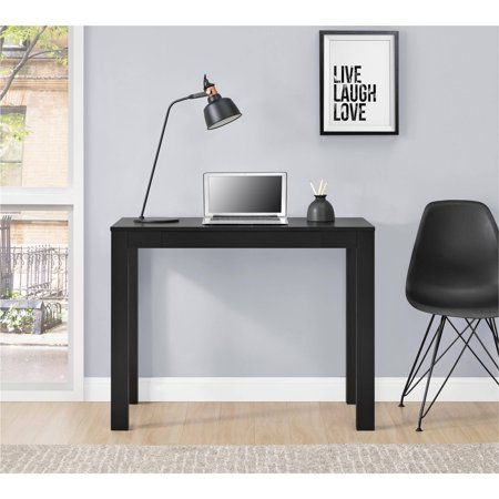 Set Of 8 Mainstays Parsons Desk With Drawer Black