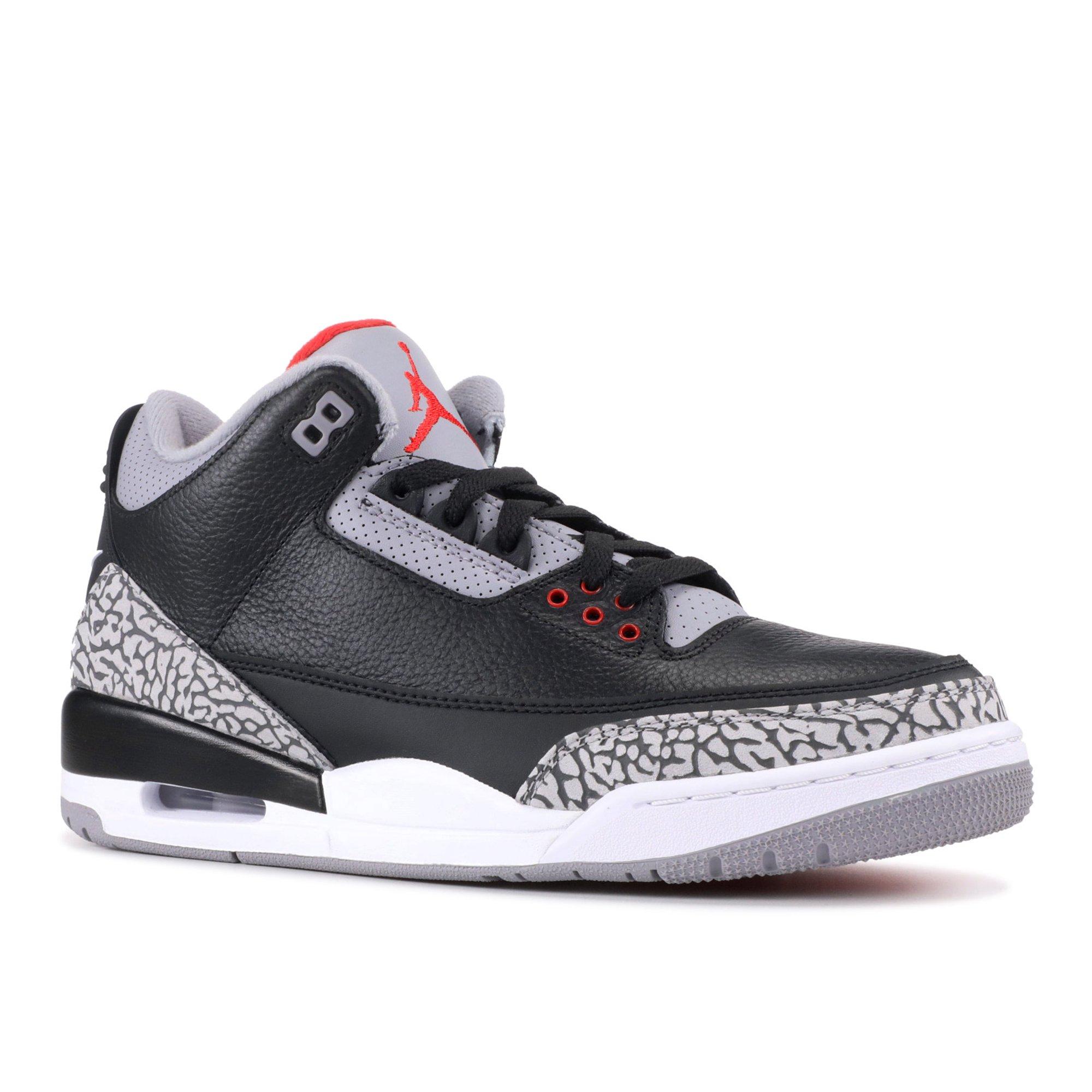 81ccb566e885b6 Air Jordan - Men - Air Jordan 3 Og Retro Og  Black Cement 2018  - 854262-001  - Size 16