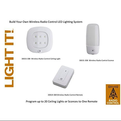 Fulcrum 30033-308 Light It! 30033-308 Wireless Remote-controlled Led Ceiling Light