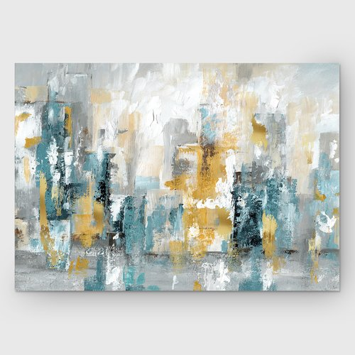 Ebern Designs 'City Views II' Painting Print on Wrapped Canvas