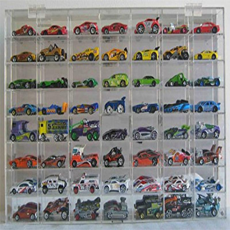 Hot Wheels Display Case 56 compartment for 1/64 scale Nas...