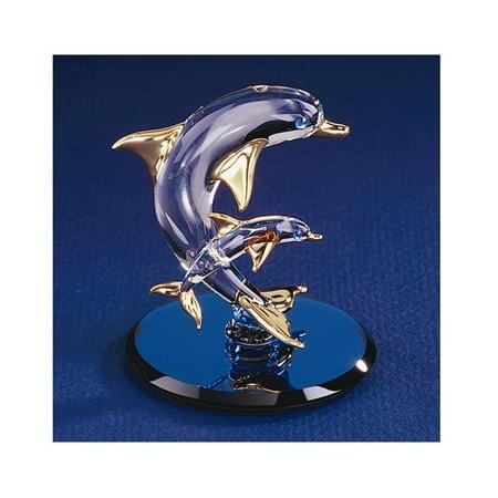 Dolphins Glass Figurine (Dolphin & Baby Glass Figurine)
