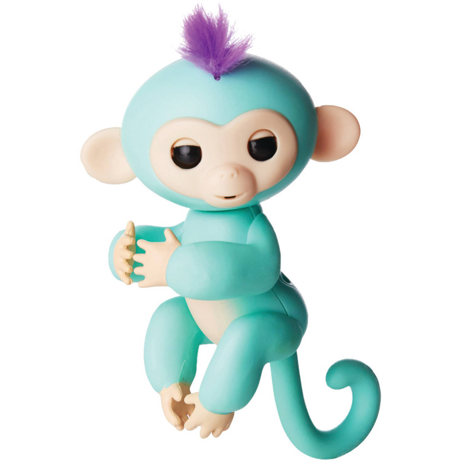 Fingerlings - Interactive Baby Monkey - Zoe (Turquoise with Purple Hair) By WowWee