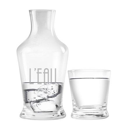 Susquehanna Glass L'eau 2-Piece Carafe -