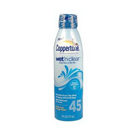 Coppertone Wet N Clear Kids Continuous Spray Spf 45 - 6 Oz, 3 Pack