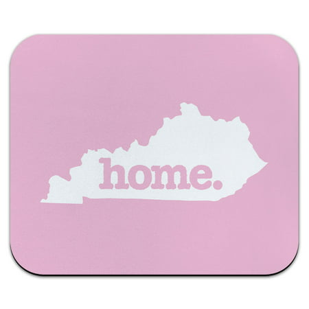 Kentucky KY Home State Mouse Pad Mousepad - Solid Light Pink - K State Powercat