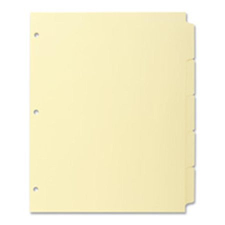 - Plain Tab Indexes- 3HP- 5-Tab- 11in.x8-.50in.- Canary