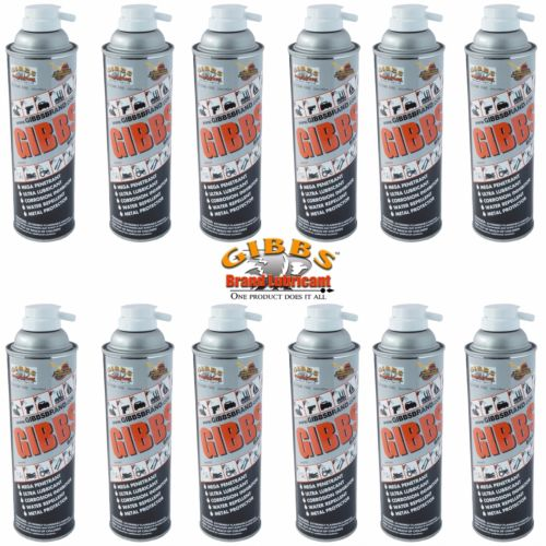 Gibbs Brand Lubricant 12 oz Spray Cans, Case of 12