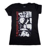 5 Seconds of Summer Stacked Photo Junior's T-Shirt Medium
