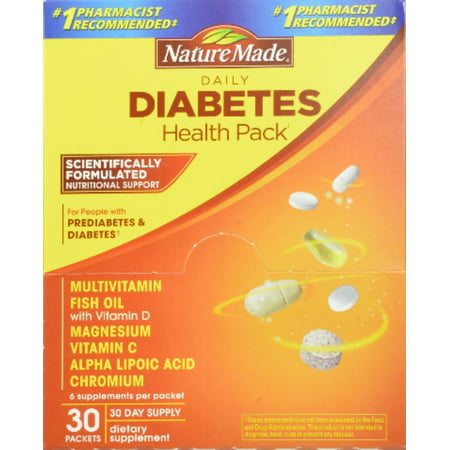 Nature Made Daily Diabetes Health Pack 30 Each (Pack of 4)