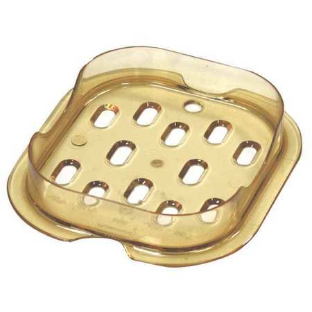 Sixth Size Drain Tray,Amber RUBBERMAID FG345600AMBR