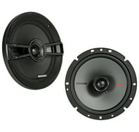 "KICKER 44KSC6704 6.75"" (165mm) Coax Spkrs w/.75""(20mm) tweeters, 4ohm, RoHS Compliant"