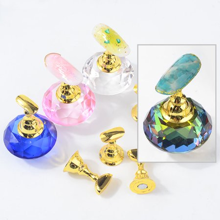 Magnetic Nail Practice Holder Set Nail Art Training Display Stand Kit Acrylic Crystal False Nail Tips Holders DIY Manicure Tools For Nail Art Salon - image 4 of 6