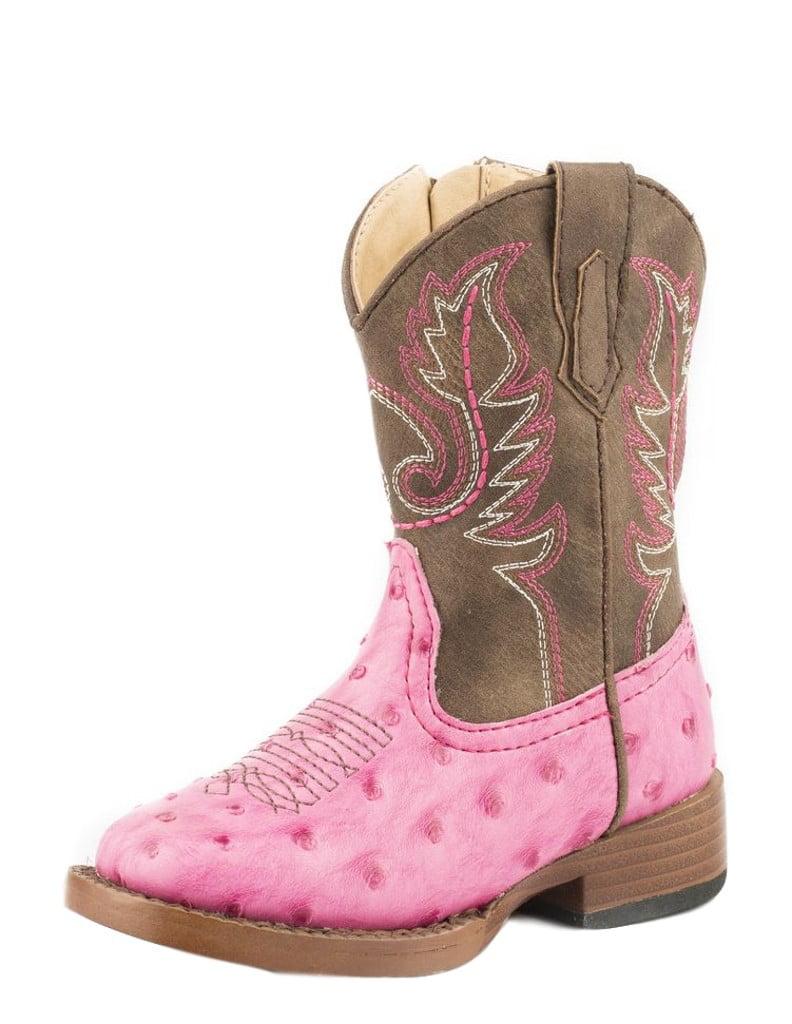 Roper Western Boots Girls Annabelle Ostrich Pink 09-017-1900-1522 PI