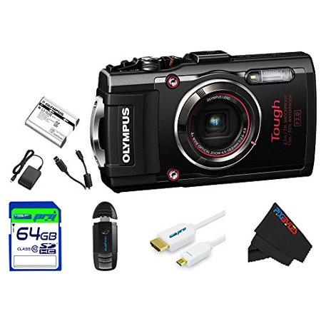 Olympus TG4BL-64GB4PC Stylus 16 Waterproof Digital Camera with 4x OIS Zoom,  LCD