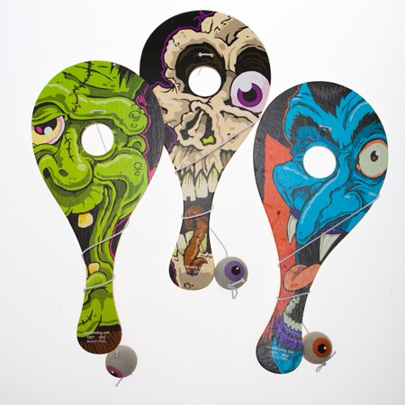 Eyeball Catch Paddleball Games for Halloween - Blinking Halloween Eyeballs
