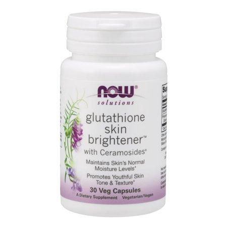 Glutathione Skin Brightener with Ceramosides Now Foods 30 (Best Food Sources Of Glutathione)