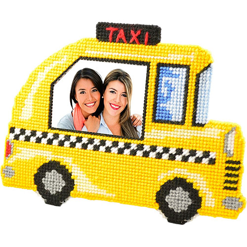Framous Kits Taxi Framous Plastic Canvas Kit, 5.7 by 7.87-Inch Multi-Colored
