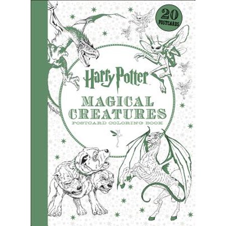 Harry Potter: Harry Potter Magical Creatures Postcard Coloring Book