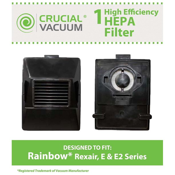 Rainbow Rexair Cleaner E Series Vacuum Cleaner E Series Washable Reusable Exhaust Hepa Filter Compare To Part R10520 R 10520 R12106b Designed Engineered By By Crucial Vacuum Walmart Com