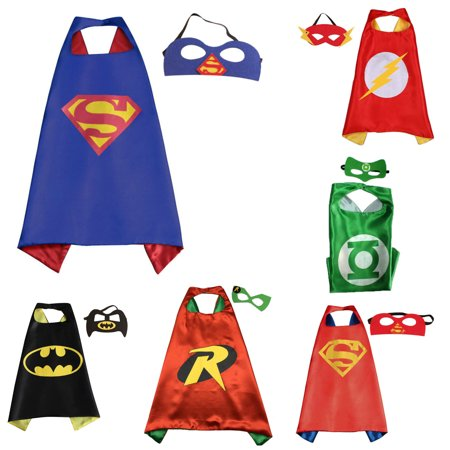 6 Set Superhero  Costumes - Capes and Masks with Gift Box by Superheroes](Orange Superhero Cape)