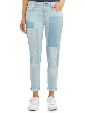 EV1 from Ellen DeGeneres Alex Vintage Relaxed Jean Printed Patchwork Women's