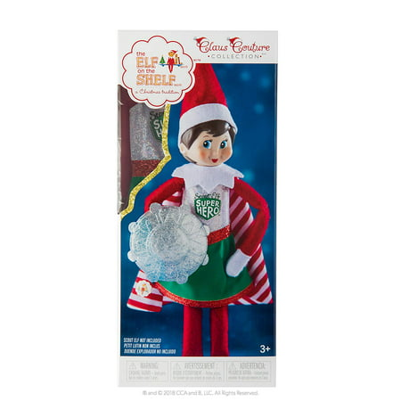 Claus Couture Collection Scout Elf Superhero Girl, Includes Cheery candy cane–striped elf cape; Sparkly uniform with Scout Elf Superhero logo; and.., By The Elf on the - Elf Girl Pics