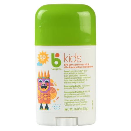 Babyganics Kids Sunscreen Stick, SPF 50, 1.6 Oz ()