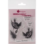 """Woodware Clear Stamps 3.5""""X3.5""""-Poppy"""