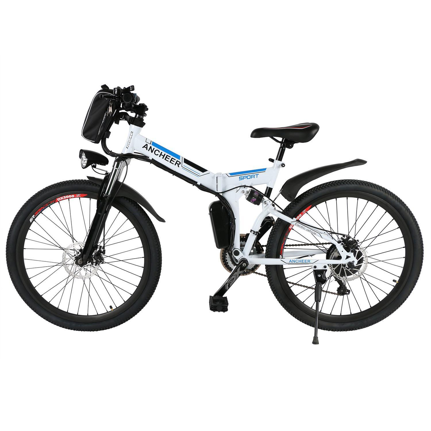 """Topeakmart 26"""" Foldable Electric Power Mountain Bike Bicycle with Lithium-Ion Battery 36V TEAKT by"""