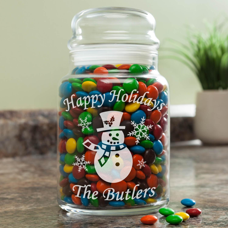 Personalized Treat Jar - Christmas Time Glass Jar