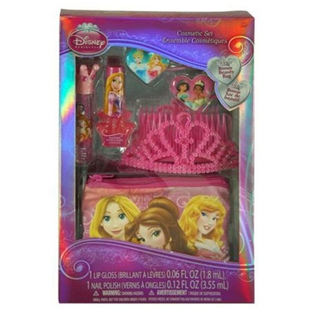 Disney Princess Kids (Disney Princess Cosmetic and Hair Kids Girl's Gift Set with Tiara and Beauty)