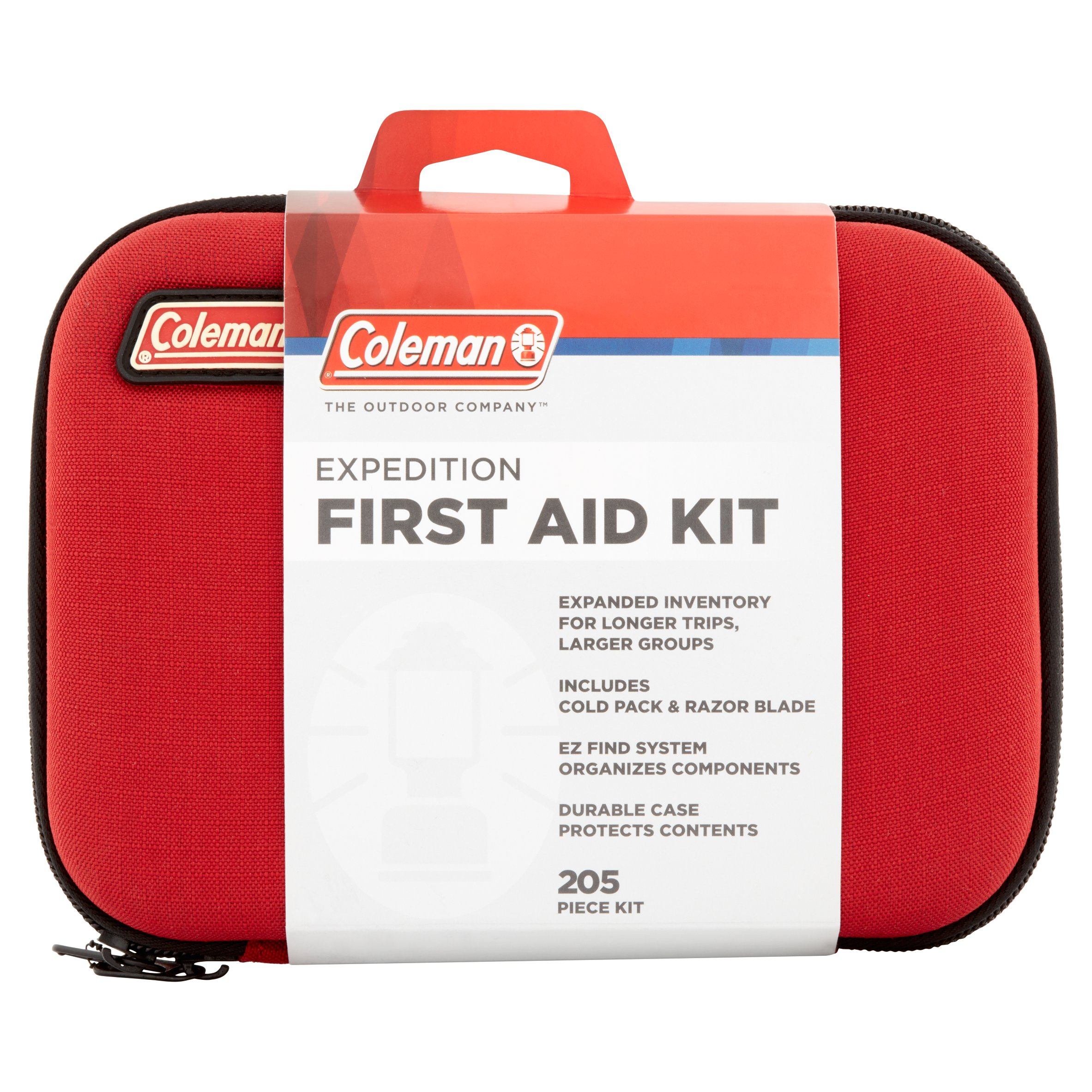 Coleman Expedition First Aid Kit, 205 items, Red by Wisconsin Pharmacal Company, LLC