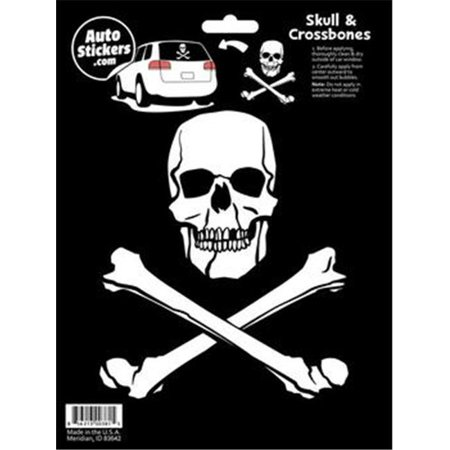 Decalcomania 10006 Skull & Crossbones Decal Stickers - Skull And Crossbones Stickers