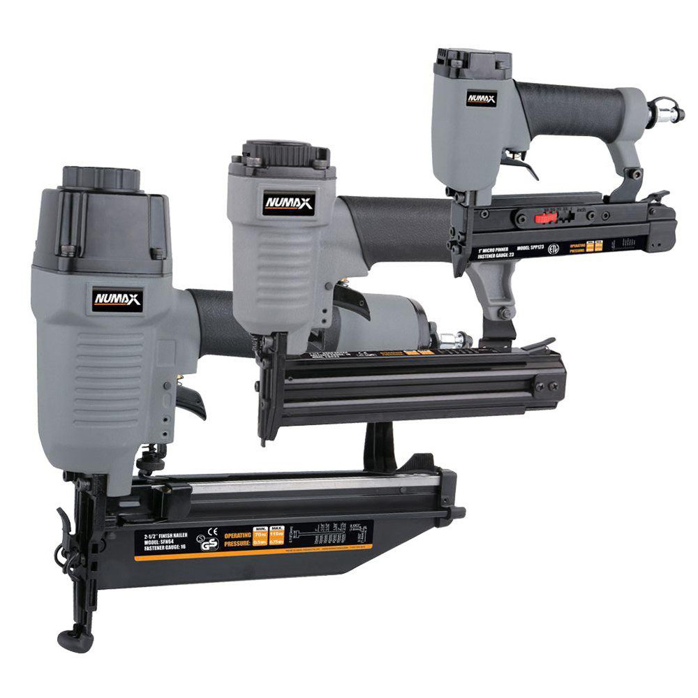 NuMax NM6432123 3-Piece Finish Nailer Kit