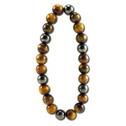 Magnetic Hematite Bracelets, Tigers Eye - Protection/Happiness