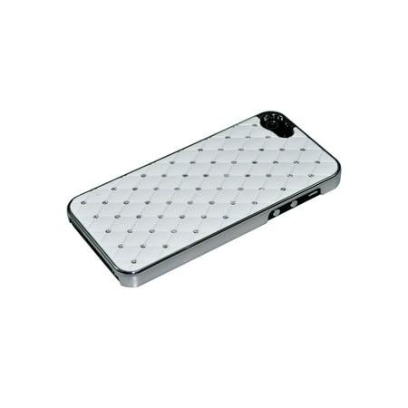 Luxruy Diamond Bling Chrome Hard Rhinestone Back Case Cover For Apple iPhone SE ()