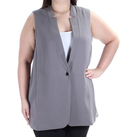 BAR III Womens Gray Sleeveless V Neck Vest Wear To Work Top  Size: XL