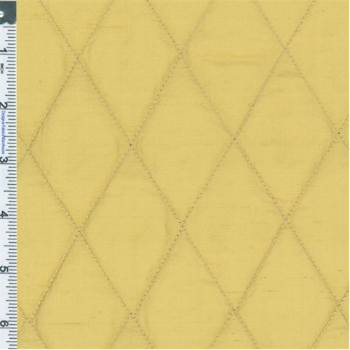 Sand Beige Quilted Silk Dupioni Drapery Fabric, Fabric By the Yard