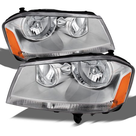 Dodge Avenger Headlamps Headlight (Fit 2008-2013 Dodge Avenger Replacement Headlights Headlamps L+R 2009)