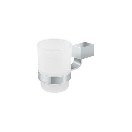 Deltana Polished Chrome Glass Tumbler / Toothbrush Holder