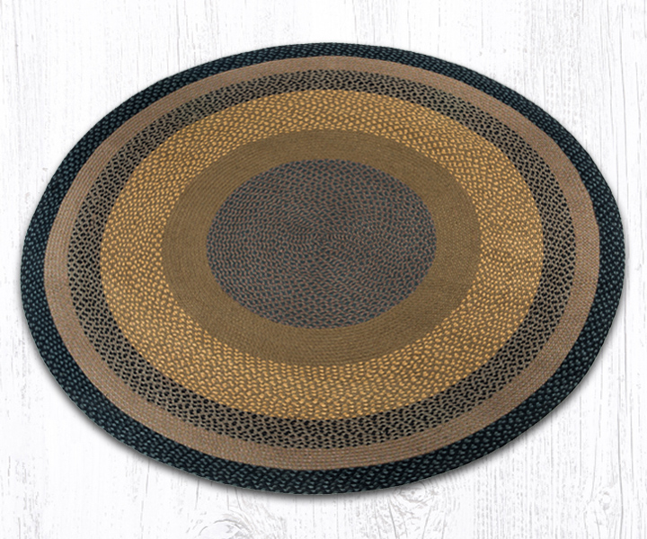 Earth Rugs C-99 Brown   Black   Charcoal Round Braided Rug 5.75 Feet x 5.75 Feet by Earth Rugs