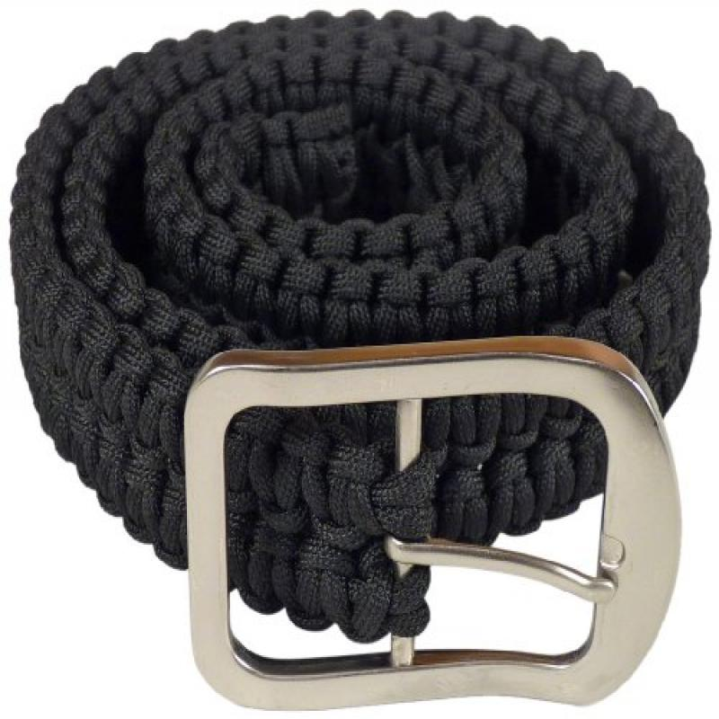 Stone River Gear Paracord Survival Belt, Black, Large