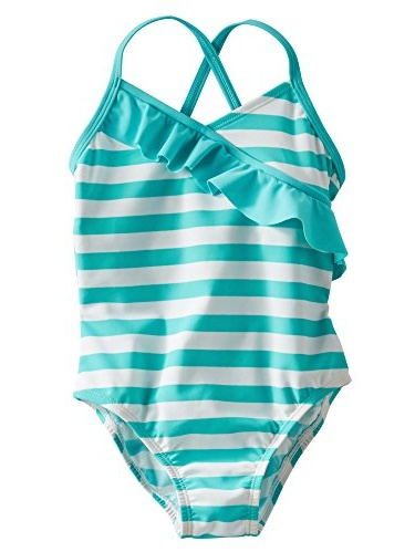 OshKosh Bgosh Baby Girls Striped Ruffle Swimsuit