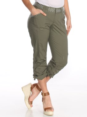 INC Womens Green Embellished Cargo Pants  Size: 14