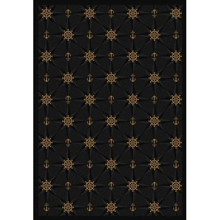 Joy Carpets 1515C-05 Mariner s Tale Onyx 5 ft. 4 inch x 7 ft. 8 inch 100 Pct.  STAINMASTER Nylon Machine Tufted- Cut