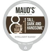 Maud's Dark Roast Coffee (Tall Dark and Handsome), 100ct. Recyclable Single Serve Dark Roast Coffee Pods – 100% Arabica Coffee California Roasted, Keurig Dark Roast K Cups Compatible Including 2.0