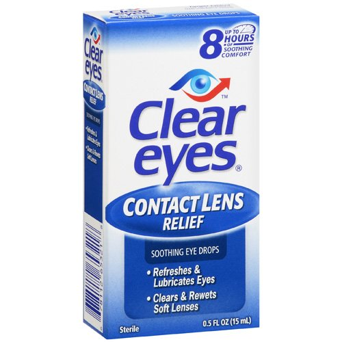 Clear Eyes: Contact Lens Relief Eye Drops, .5 Oz