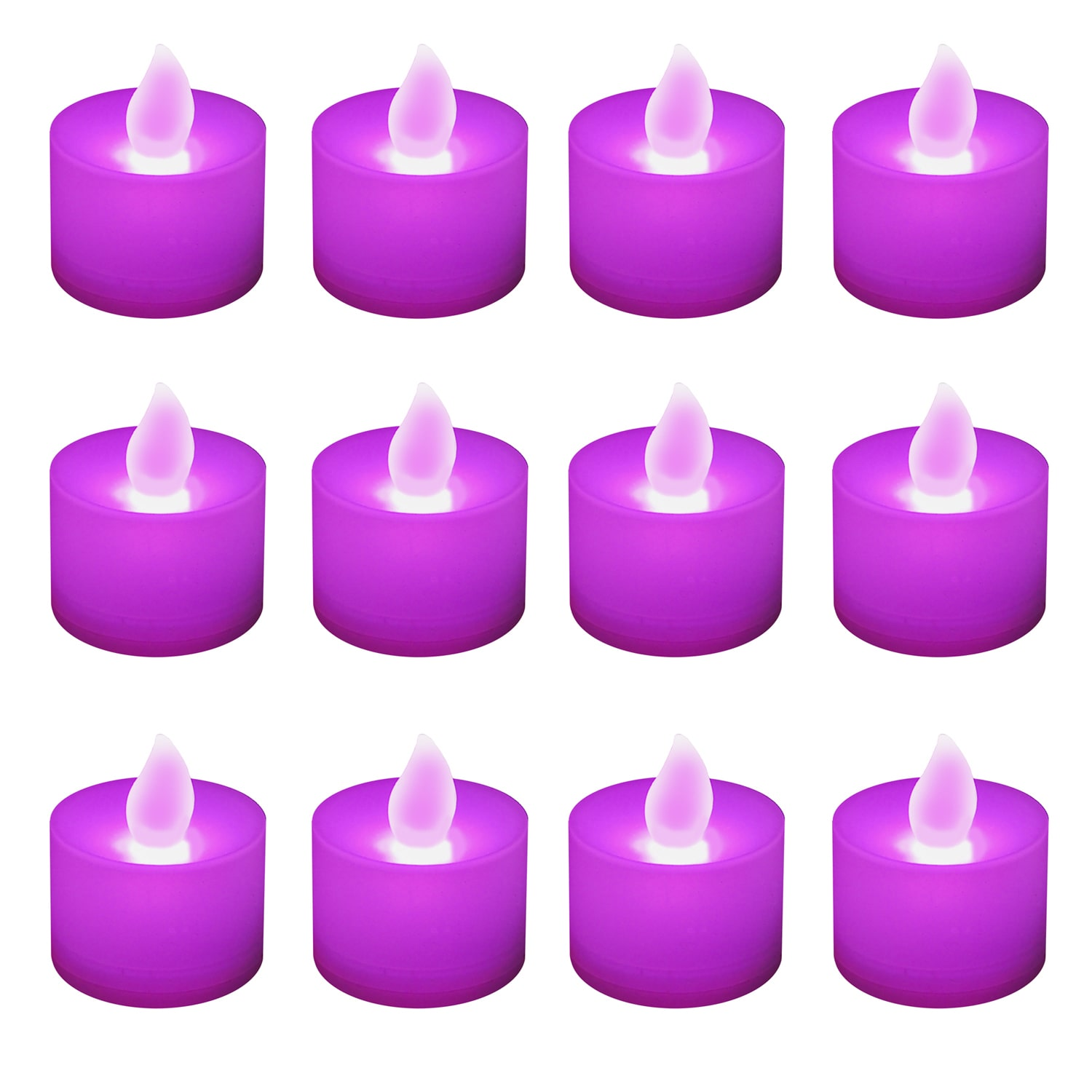 JH Specialties Inc. Battery Operated Purple LED Tea Light Candles (12-pack) by Overstock