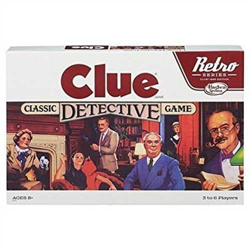 Clue Classic Detective Board Game Retro Series Reissue by Hasbro by Hasbro